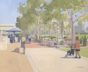 <i>Active Embarcadero</i><BR>San Diego, California<BR>20x24 Oil - $2750