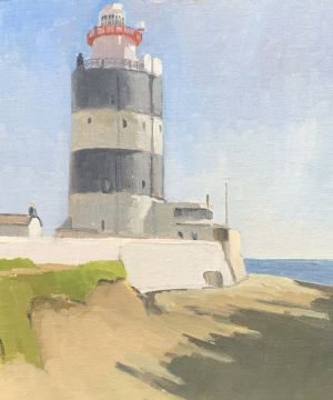 <i>Hook Head Lighthouse</i><BR>Wexford, Ireland<BR>12x14 Oil - $1100