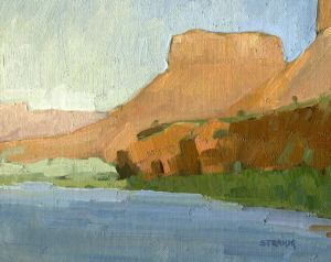 <i>Along the Colorado River</i><BR>Moab, Utah<BR>8x10 Oil - $600