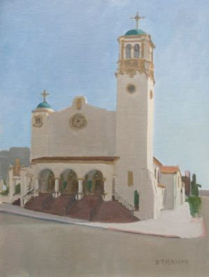 <i>St. Joseph Cathedral</i><BR>Downtown, San Diego<BR>12x16 oil - $1200