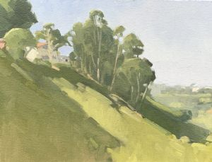 <i>Living Along Switzer Canyon</i><BR>San Diego, California<BR>9x12 Oil - $750