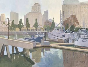 <i>The Calm of Early Morning</i><BR>San Diego, California<BR>36x48 oil - $6000