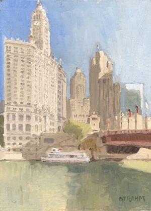 <i>Wrigley Building</i><BR>Chicago, Illinois<BR>9x12 Oil - $750