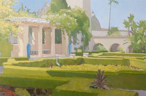 <i>Alcazar Garden</i><BR>Balboa Park, San Diego<BR>24x36 oil - $4800
