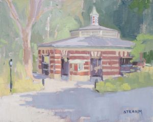 <i>Carousel in the Park</i><BR>Central Park, New York<BR>11x14 oil - $800