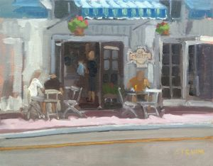 <i>Lunch at La Galette</i><BR>San Clemente, California<BR>11x14 oil - $720