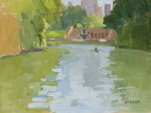 <i>The Lake</i><BR>Central Park, New York<BR>11x14 oil - $800