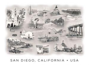 San Diego Montage<BR>San Diego, California