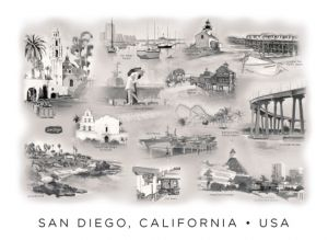 San Diego Montage with Captions