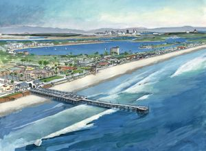 Aerial View of Pacific Beach<BR> Pacific Beach, San Diego