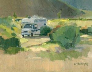 Camping in<br/>Borrego Springs