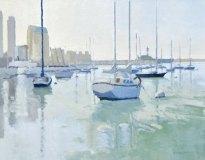Moored Boats on San Diego Bay