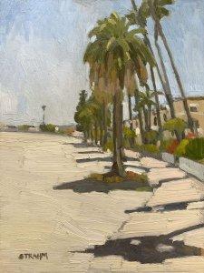 Palm Trees Along Bayside Walk