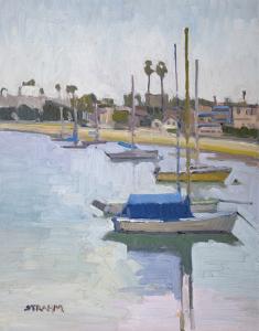 Moored Boats at Santa Barbara Harbor