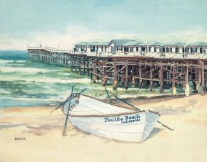 Crystal Pier<br/>in Pacific Beach