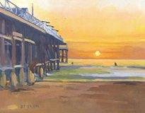 Beach Sunset at Crystal Pier