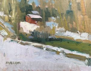 <i>Along Yellow Creek</i><BR>Poland, Ohio<BR>8x10 oil - $800