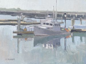 <i>Boat Reflections</i><BR>San Diego, California<BR>12x16 oil - $1200