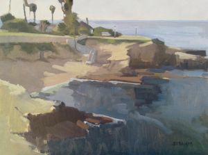 <i>La Jolla Sunshine</i><BR>La Jolla, San Diego, California<BR>12x16 oil - $1200