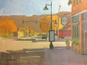 <i>Downtown Moab</i><BR>Moab, Utah<BR>12x16 Oil - $1200