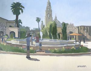 <i>A Great Day at the Park</i><BR>Balboa Park, San Diego, CA<BR>16x20 oil - $2200