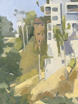 <i>Maple Canyon</i><BR>San Diego, California<BR>9x12 Oil - $750