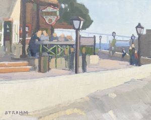 <i>Assaggio's at Seaport Village</i><BR>San Diego, California<BR>8x10 Oil - $600