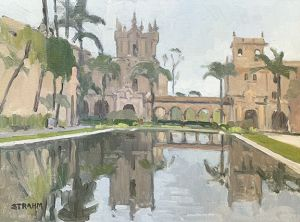 <i>Reflections</i><BR>Balboa Park • San Diego, California<BR>12x16 oil - $1200