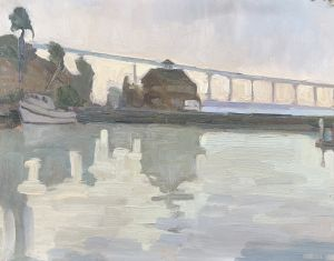 <i>Coronado Bridge View</i><BR>San Diego, California<BR>8x10 Oil - $600