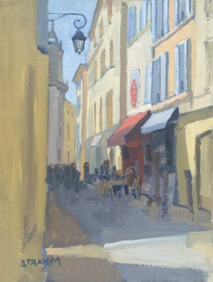 <i>Aix-en-Provence's Old Town</i><BR>Aix-en-Provence, France<BR>12x16 oil - $1200