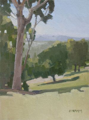 <i>View from Presidio Park</i><BR>Presidio Park, San Diego<BR>16x12 oil - $1200