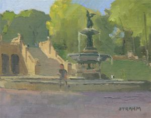 <i>Bethesda Terrace</i><BR>Central Park, New York<BR>11x14 oil - $900