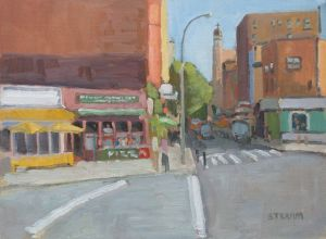 <i>Bleeker Street</i><BR>Central Park, New York<BR>12x16 oil - $1400