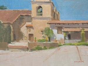 <i>Carmel Mission</i><BR>Carmel, Calif.<BR>12x16 oil - $1200