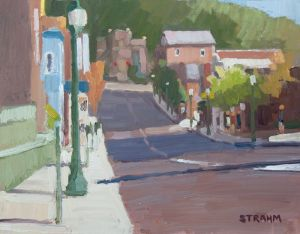 <i>Morning Light</i><BR>Athens, Ohio<BR>11x14 oil - $800