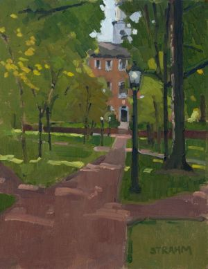 <i>The Green at Ohio University</i><BR>Athens, Ohio<BR>11x14 oil - $950