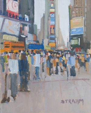 <i>Times Square</i><BR>New York City, New York<BR>14x11 oil - $900