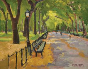 Literary Walk, Central Park<BR>New York City, New York