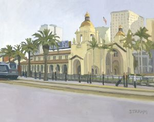 Early Morning Commute • Santa Fe Train Depot<BR>Downtown, San Diego