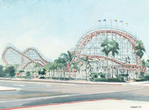 Giant Dipper Rollercoaster at Belmont Park<BR> Mission Beach, San Diego
