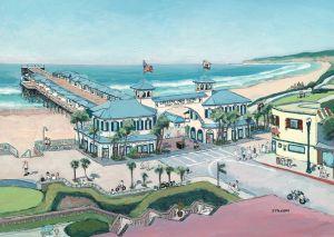 Crystal Pier at the Boardwalk<BR> Pacific Beach, California