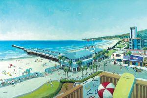 Crystal Pier and Beach Life<BR> Pacific Beach, San Diego