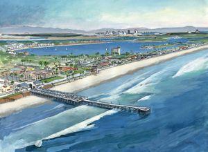 Aerial View of Pacific Beach<BR> Pacific Beach, San Diego